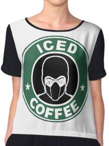 Mortal Kombat •Sub Zero •Iced Coffee Chiffon Top