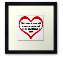 Sticks and Stones – Part 2 Framed Print