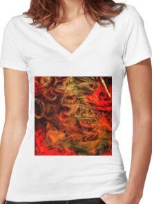 Phantasy Large Women's Fitted V-Neck T-Shirt
