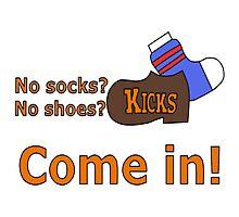 Kicks Show Store Logo Photographic Print