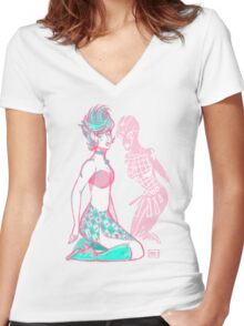 Trish Una and Spice Girl Women's Fitted V-Neck T-Shirt