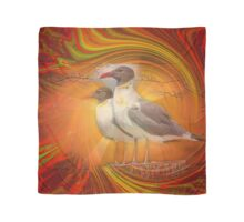 Gulls Caught in Art Life Large Scarf