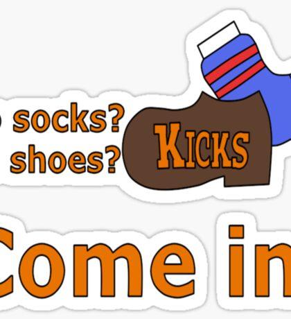 Kicks Show Store Logo Sticker