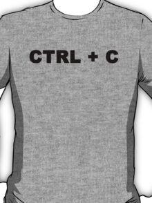 CTRL + C, Dad or Mom T shirt T-Shirt