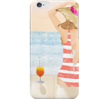 girl in swimsuit at sunset iPhone Case/Skin