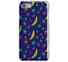 Colored stars and moons. iPhone Case/Skin