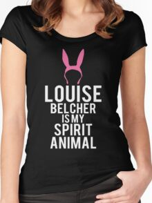 Louise Spirit Animal Women's Fitted Scoop T-Shirt