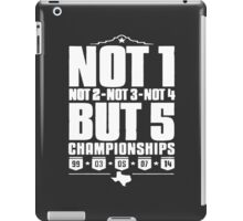 Not 1 but 5 Championships iPad Case/Skin