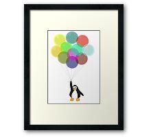 Penguin & Balloons Framed Print