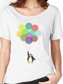Penguin & Balloons Women's Relaxed Fit T-Shirt