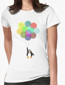 Penguin & Balloons Womens Fitted T-Shirt