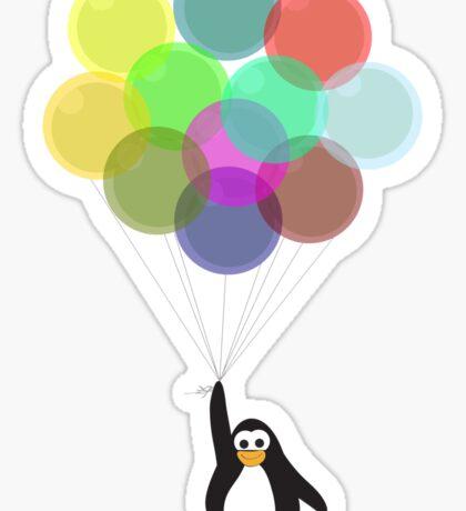 Penguin & Balloons Sticker