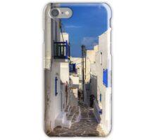 Down a Lane in Mykonos iPhone Case/Skin