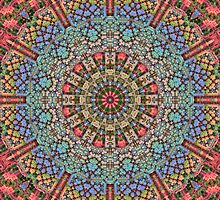3-D Mosaic Mandala by Lyle Hatch