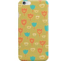 Tulips and grass background. iPhone Case/Skin