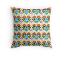 Cute Colourful Paisley & Fantasy Flowers Throw Pillow