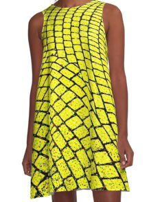 Yellow Brick Road  A-Line Dress