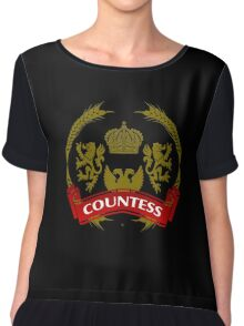 The Countess Coat-of-Arms     Chiffon Top
