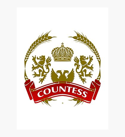 The Countess Coat-of-Arms     Photographic Print