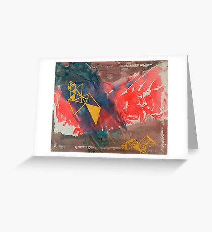 primary modern design Greeting Card