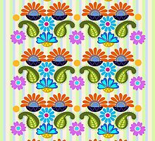 Paisley, Fantasy Flowers & Stripe patterns by walstraasart