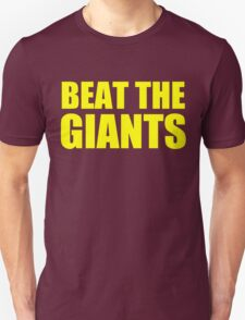 San Francisco 49ers - BEAT THE GIANTS - Gold text T-Shirt