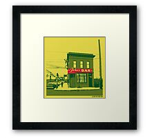 John's Bar Framed Print
