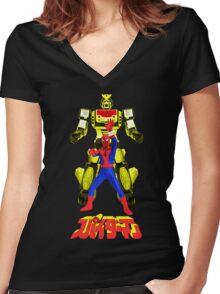 Supaidaman!  CHANGE LEOPARDON!!! (Version 3) Women's Fitted V-Neck T-Shirt