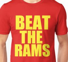 San Francisco 49ers - BEAT THE RAMS - Gold Text Unisex T-Shirt