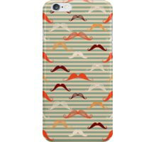Mustache background in vintage style.  iPhone Case/Skin