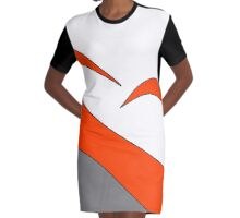 Colour Blocks Graphic T-Shirt Dress