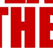 San Francisco 49ers - BEAT THE RAMS - Red Text Sticker