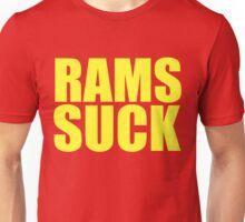 San Francisco 49ers - RAMS SUCK - Gold text Unisex T-Shirt