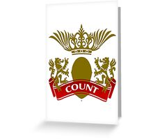 The Count Coat-of-Arms Greeting Card