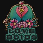 Love Boids T-Shirt by Helen Aldous