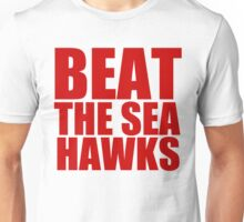 San Francisco 49ers - BEAT THE SEAHAWKS - Red Rext Unisex T-Shirt