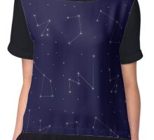 Constellations Pattern Chiffon Top