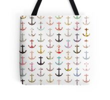 Vintage retro sailor girly floral nautical anchors Tote Bag