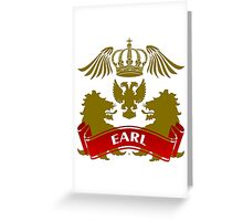 The Earl Coat-of-Arms Greeting Card