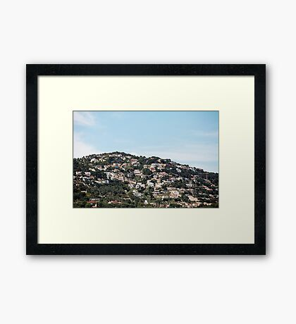 village on the mountainside Framed Print