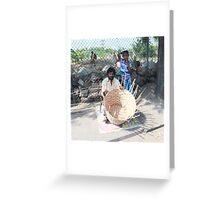 Basket Weaver  Greeting Card