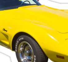 1975 Corvette Stingray Muscle Car Sticker