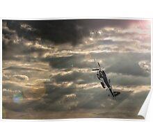 Spitfire Stormy Sky  Poster