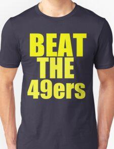 St Louis Rams - BEAT THE 49ers - Gold text Unisex T-Shirt