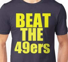 St Louis Rams - BEAT THE 49ers - Gold text Unisex T-Shirt