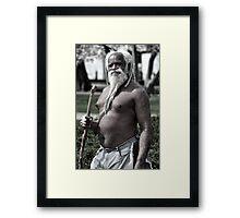 Elisha Nature boy Plate No.# VII Framed Print