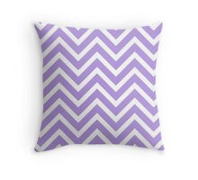 Lavender Chevron Throw Pillow