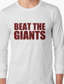 Washington Redskins - BEAT THE GIANTS - Red text Long Sleeve T-Shirt