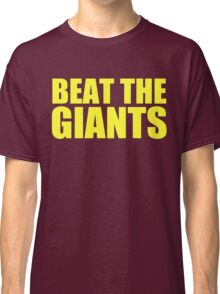 Washington Redskins - BEAT THE GIANTS - Yellow text Classic T-Shirt