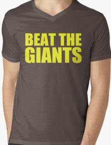 Washington Redskins - BEAT THE GIANTS - Yellow text Mens V-Neck T-Shirt